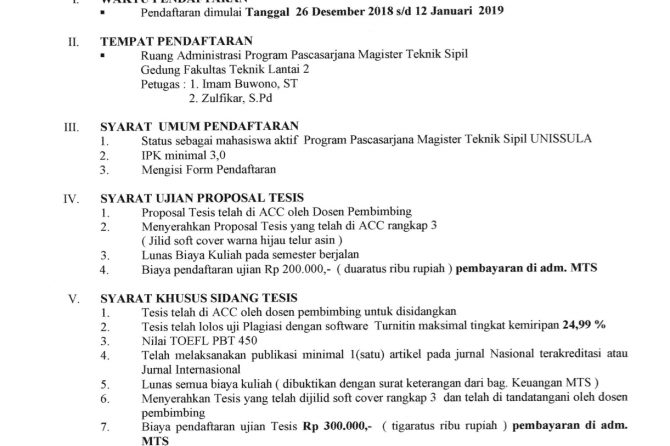 Pendaftaran Ujian Proposal dan Tesis